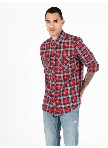 Colin's Erkek Gömlek U.Kol Kırmızı